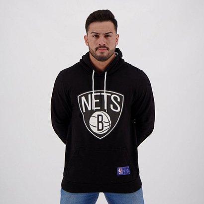 Moletom NBA Brooklyn Nets Canguru Masculino - Masculino