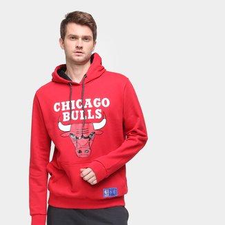 Moletom NBA Chicago Bulls Canguru Masculino