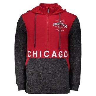 Moletom NBA Chicago Bulls Escudo Masculino