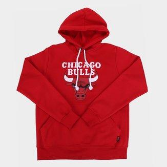 Moletom NBA Chicago Bulls Juvenil Canguru Masculino