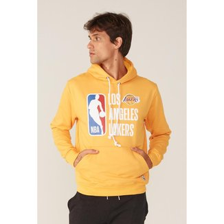 Moletom NBA Fechado com Capuz Los Angeles Lakers Masculino