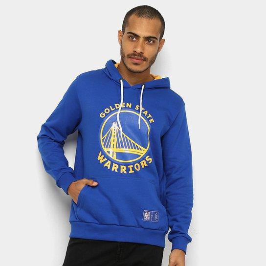 Moletom NBA Golden State Warriors Canguru Masculino - Azul