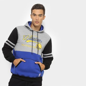Moletom NBA Golden State Warriors Colorblock Masculino