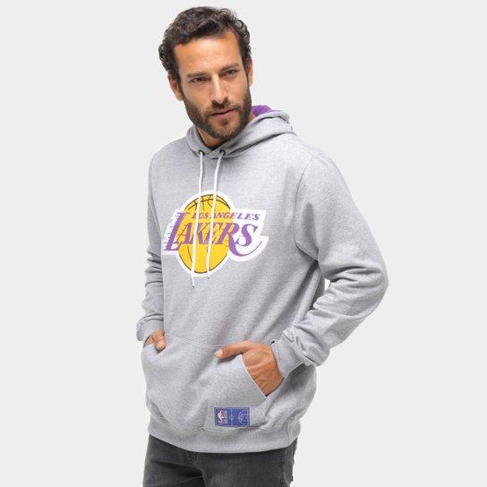 Moletom NBA Los Angeles Lakers Canguru Masculino - Cinza