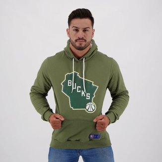 Moletom NBA Milwaukee Bucks Canguru Masculino