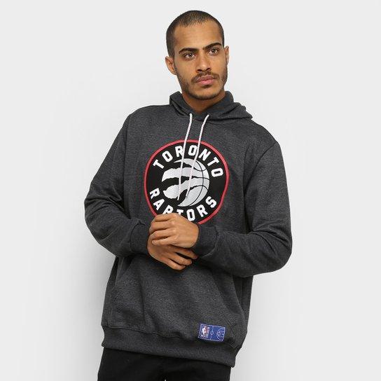 Moletom NBA Toronto Raptors Canguru Masculino - Mescla