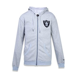 Moletom New Era Canguru Aberto Oakland Raiders NFL