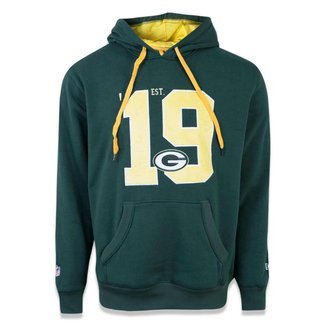 Moletom New Era Canguru Fechado Green Bay Packers Nfl Masculino