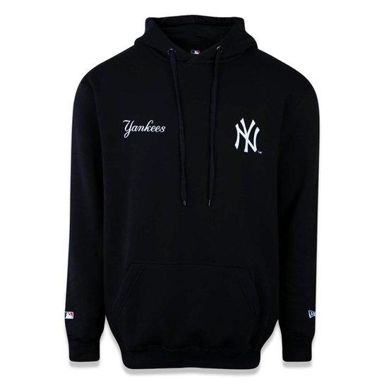 Moletom New Era Canguru Fechado New York Yankees MLB - Preto