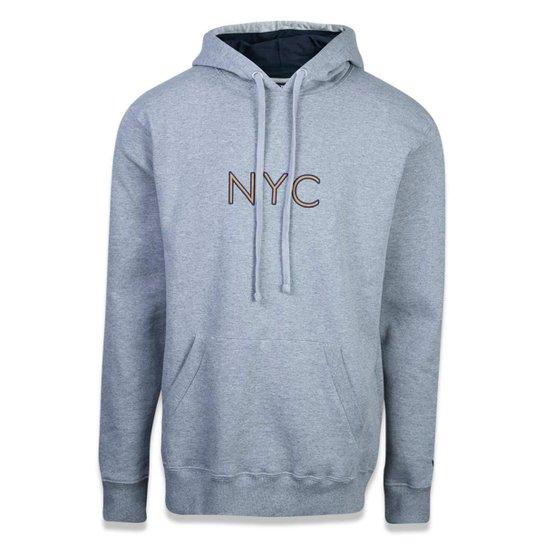 Moletom New Era Canguru Fechado NYC - Mescla Claro