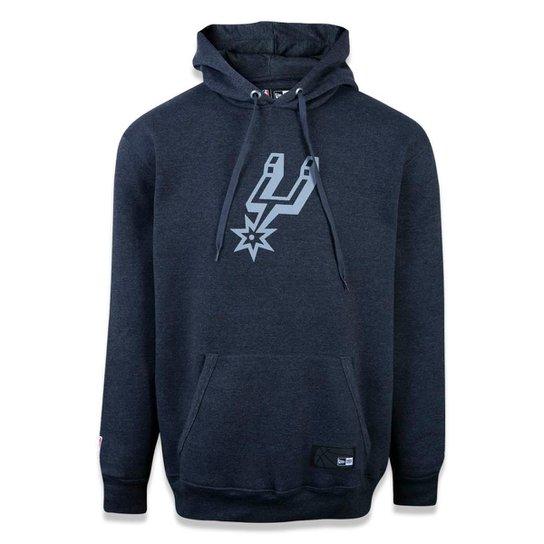 Moletom New Era Canguru Fechado San Antonio Spurs NBA - Mescla Escuro