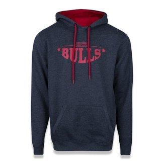 Moletom New Era Chicago Bulls NBA Convex Letter Cinza Escuro