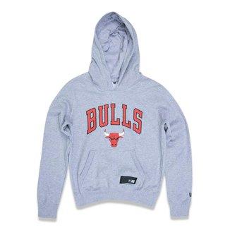 Moletom New Era Feminino Canguru Fechado Chicago Bulls NBA