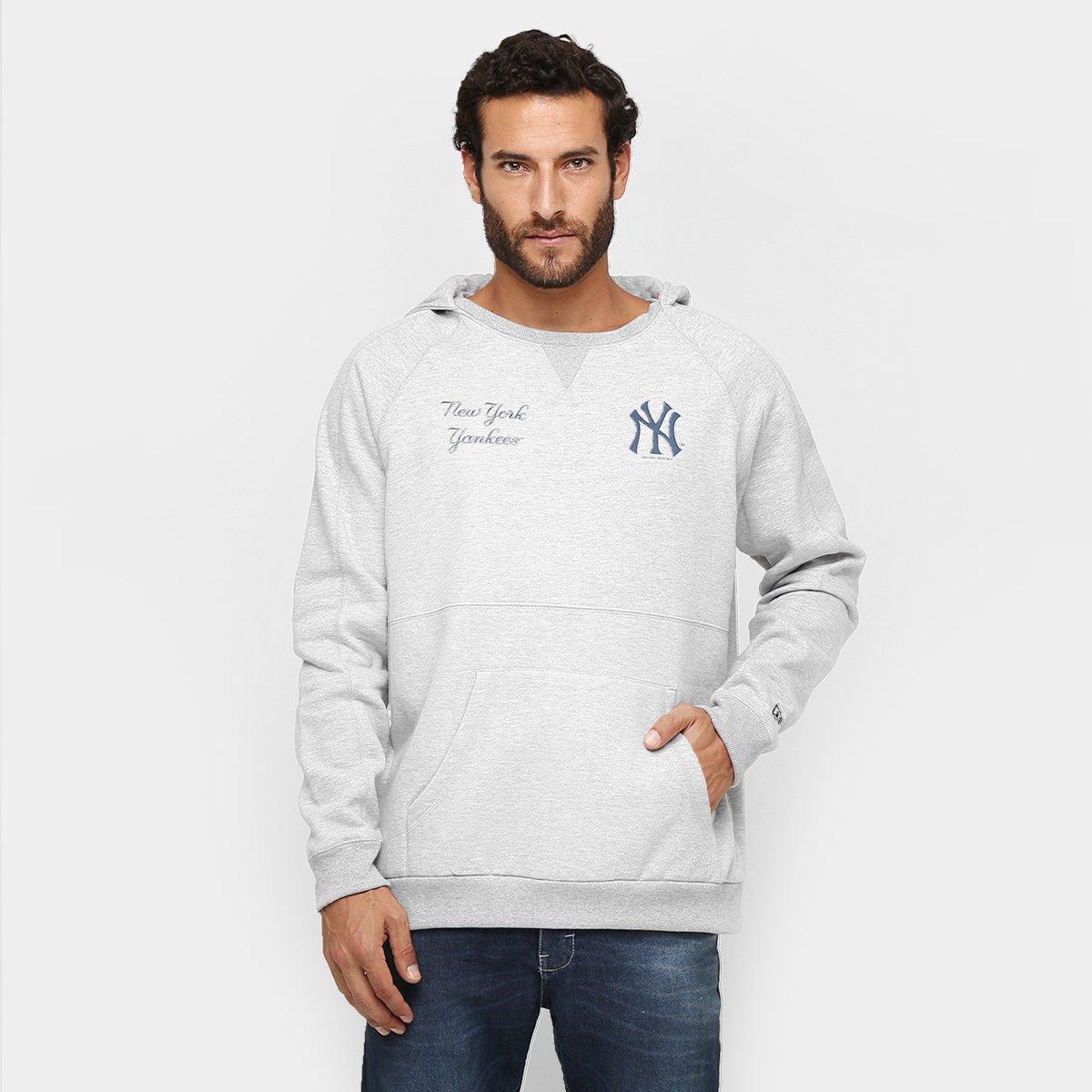 Moletom New Era MLB Especial 10 New York Yankees c  Capuz - Mescla - Compre  Agora  a3f0e0833d5