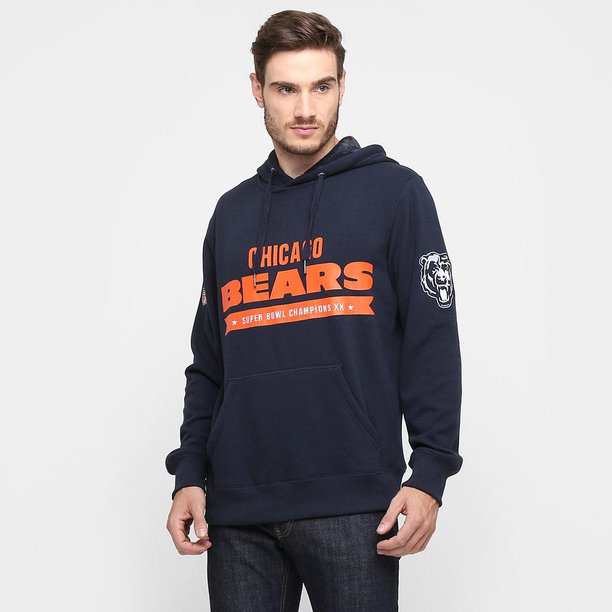 Moletom New Era NFL Uniform Chicago Bears C  Capuz - Compre Agora ... ae1f737500d