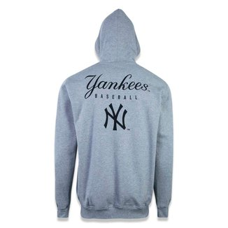 Moletom New Era Plus Size Canguru Aberto New York Yankees MLB