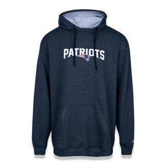 Moletom New Era Plus Size Canguru Fechado New England Patriots NFL