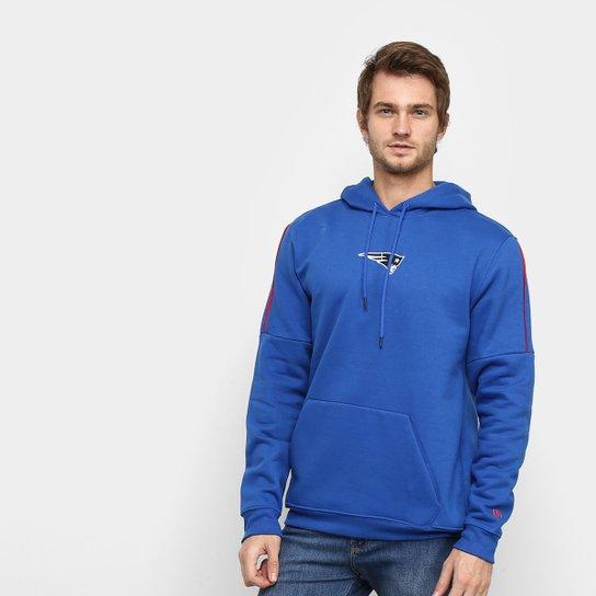 Moletom NFL New England Patriots New Era Neon Id Piping Masculino - Azul Royal
