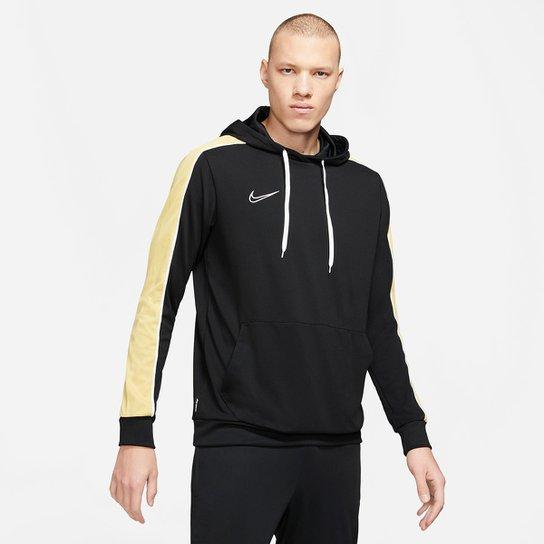 Moletom Nike Dri-Fit Academy Canguru Masculino - Preto+Dourado
