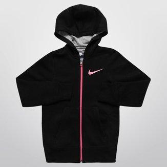 Moletom Nike Girls YA76 Graphic c/ Capuz Infantil