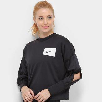 Moletom Nike Midlayer Crew Rebel Feminino