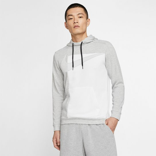 Moletom Nike Po Gsp c/ Capuz Masculino - Cinza+Branco