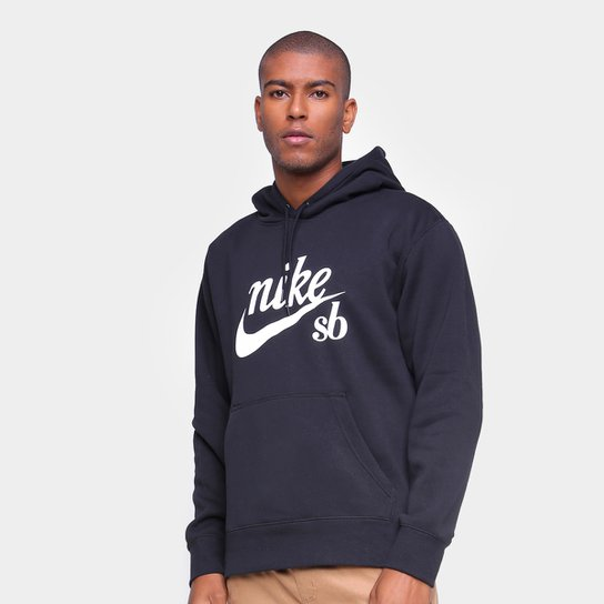 Moletom Nike SB Craft C/ Capuz Masculino - Preto+Branco