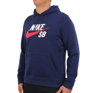 Moletom Nike SB Icon Canguru Navy