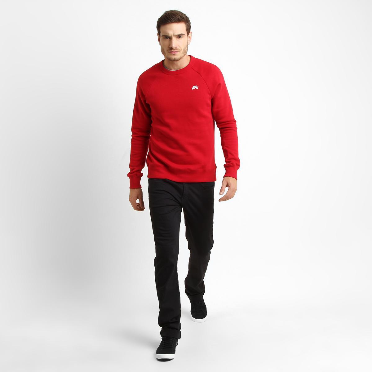 3d2cb10cc9 Moletom Nike SB Icon Crew Fleece - Compre Agora