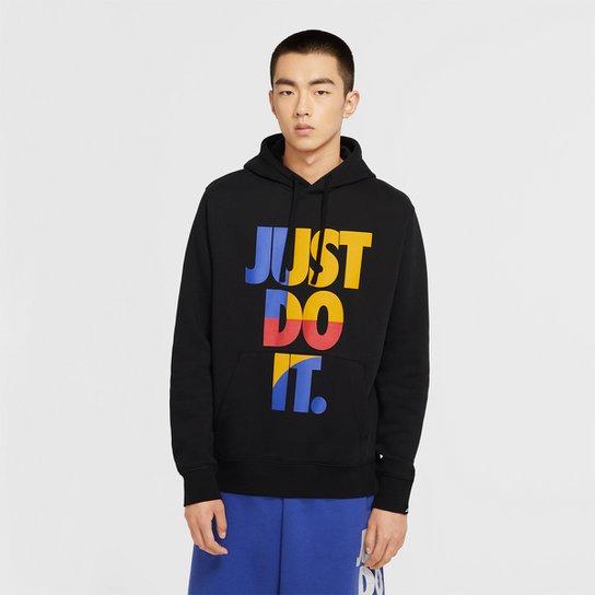 Moletom Nike Sportswear JDI Hoodie Canguru Masculino - Preto