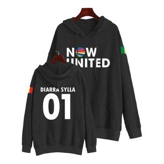 Moletom Now United Kpop Diarra Sylla 01 Bandeira Em Algodão Feminino