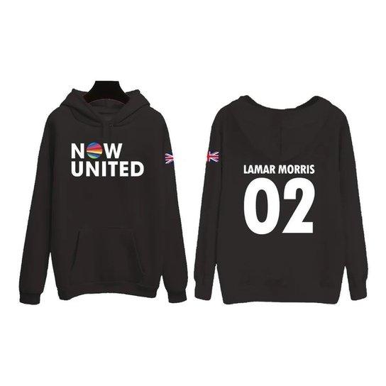 Moletom Now United Lamar Morris 02 Bandeira Reino Unido Feminino - Preto