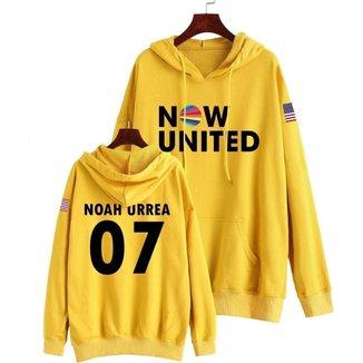 Moletom Now United Noah Urrea 07 Bandeira Estados Unidos Usa Feminino