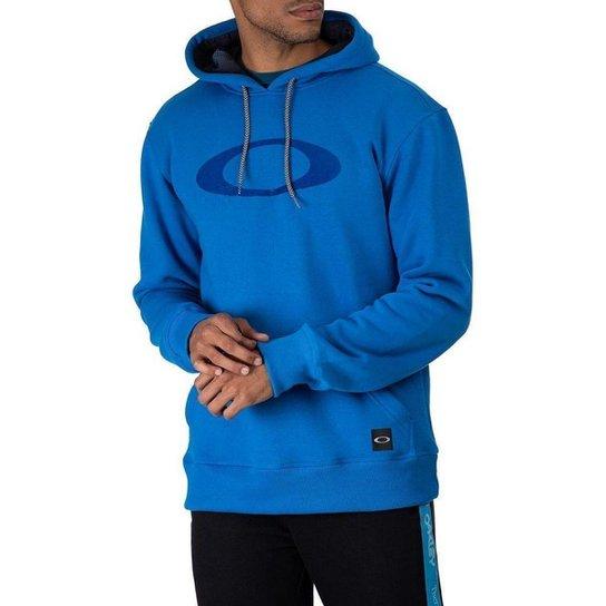 Moletom Oakley Fechado Blur Storm Hoodie Masculino - Azul