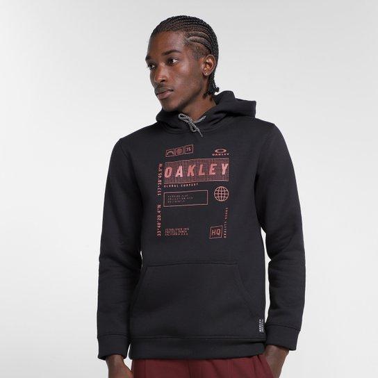 Moletom Oakley Global Tag Pullover Masculino - Preto