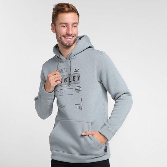 Moletom Oakley Global Tag Pullover Masculino - Cinza