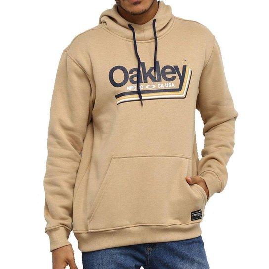 Moletom Oakley Tractor Label Masculino - Cáqui