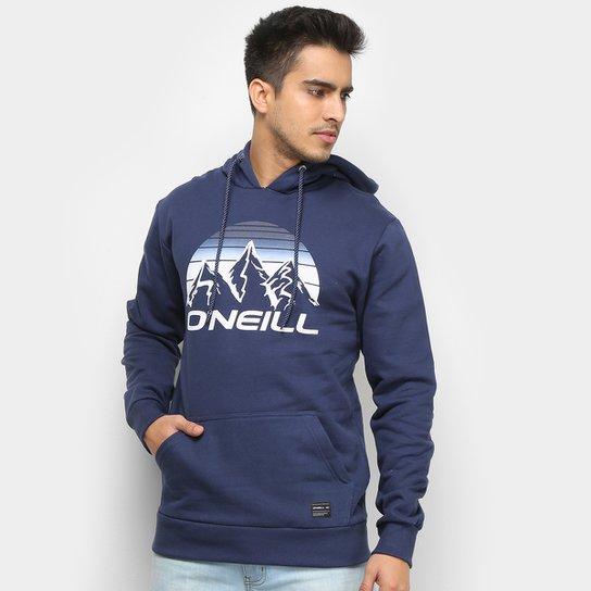Moletom O'Neill Mount Canguru Masculino - Azul