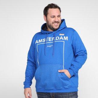 Moletom Plus Size Industrie Amsterdam Capuz Masculino