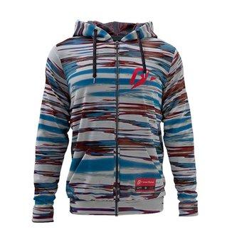 Moletom Plus Size Overfame Zíper Listrado Iceland Camouflaged Stripes