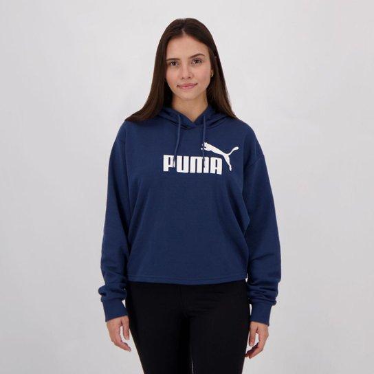 Moletom Puma Cropped Hoody Feminino - Marinho