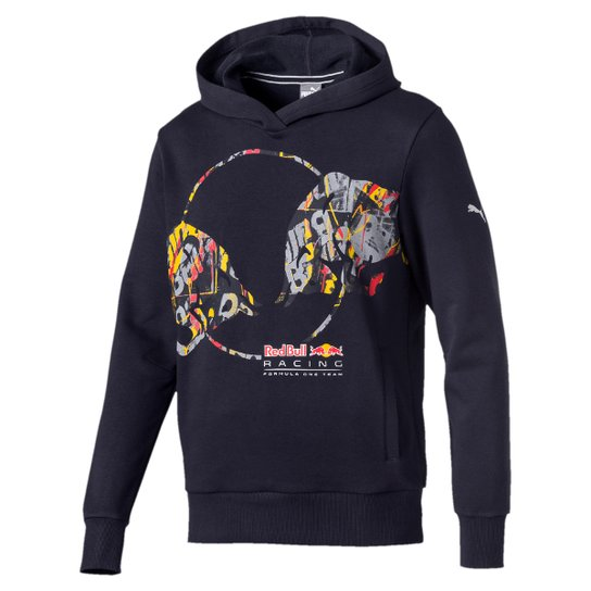 Moletom Puma Double Bull Red Bull Racing Masculino - Marinho