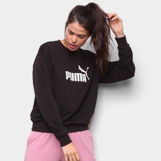 Moletom Puma Ess Logo Crew Feminino
