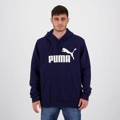 Moletom Puma Essentials Big Logo Marinho