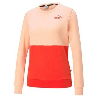 Moletom Puma Essentials+  Color block Feminino