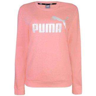 Moletom Puma Feminino Ess Metalic Logo Crew
