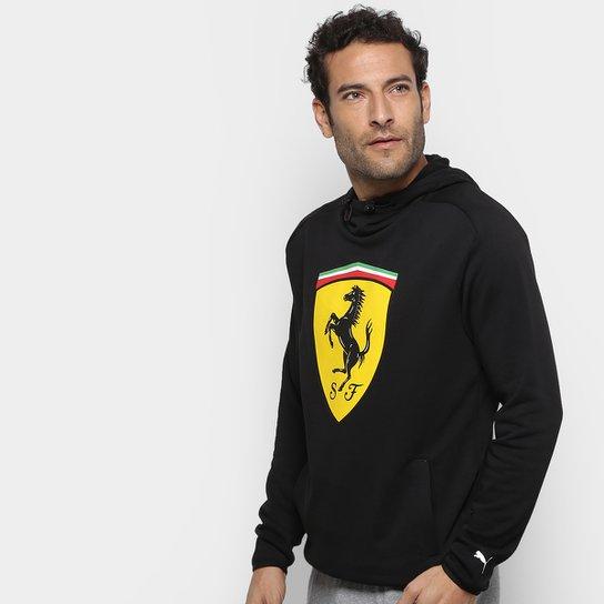 Moletom Puma Ferrari Scuderia Big Shield Sweat c/ Capuz Masculino - Preto