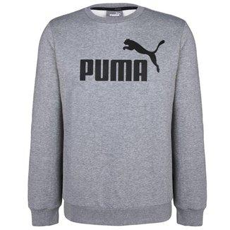 Moletom Puma Masculino Logo Crew Sweat