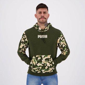 Moletom Puma Rebel Camo Hoody TR Verde