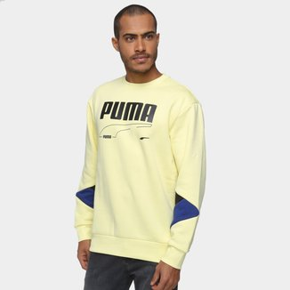 Moletom Puma Rebel Crew Masculino